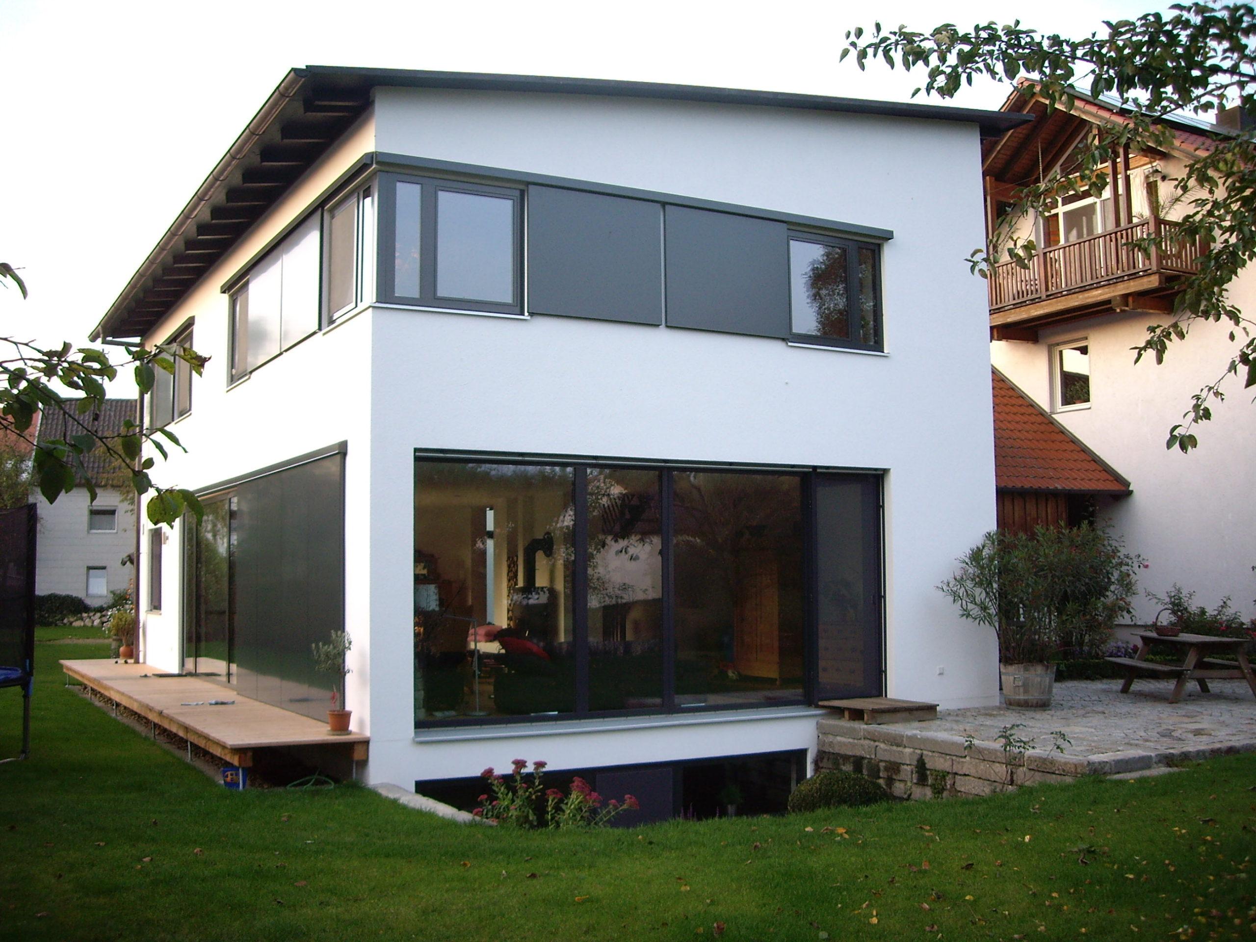 5-Neubau-Wohnhaus-Murr-Bergen-Ansicht-Süd-West